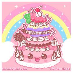 kawaii cake by miemie-chan3