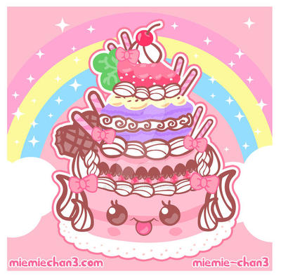 kawaii cake by miemie-chan3