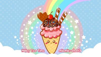 Kawaii  ice cream Wallpaper by miemie-chan3