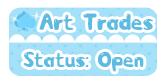DA Button: Art Trades Open by miemie-chan3