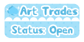 DA Button: Art Trades Open by miemie-chan3