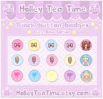 Cute Button Badges Bow Edition