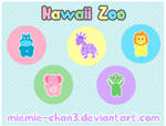 Kawaii Zoo Cute Button Badges