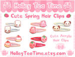 Cute Spring Acrylic Hair Clips
