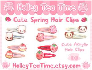 Cute Spring Acrylic Hair Clips