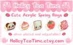 Cute Acrylic Rings Set 1