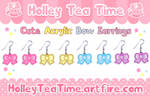Cute Acrylic Bow Earrings by miemie-chan3