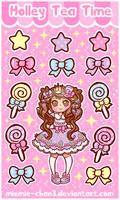 Kawaii Sugary Candy Stickers