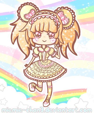 Cute Chibi Nova in rainbow by miemie-chan3