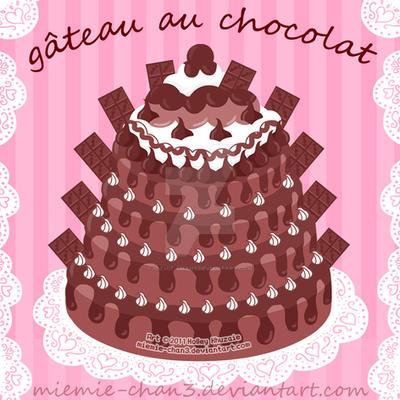 Chocolate Fudge Cake by miemie-chan3