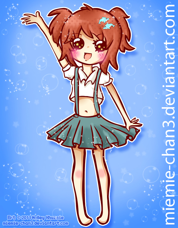 Water Chibi Delphius by miemie-chan3