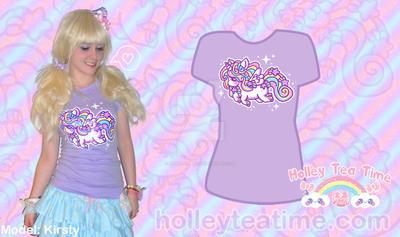 Rainbow Unicorn T-shirt by miemie-chan3