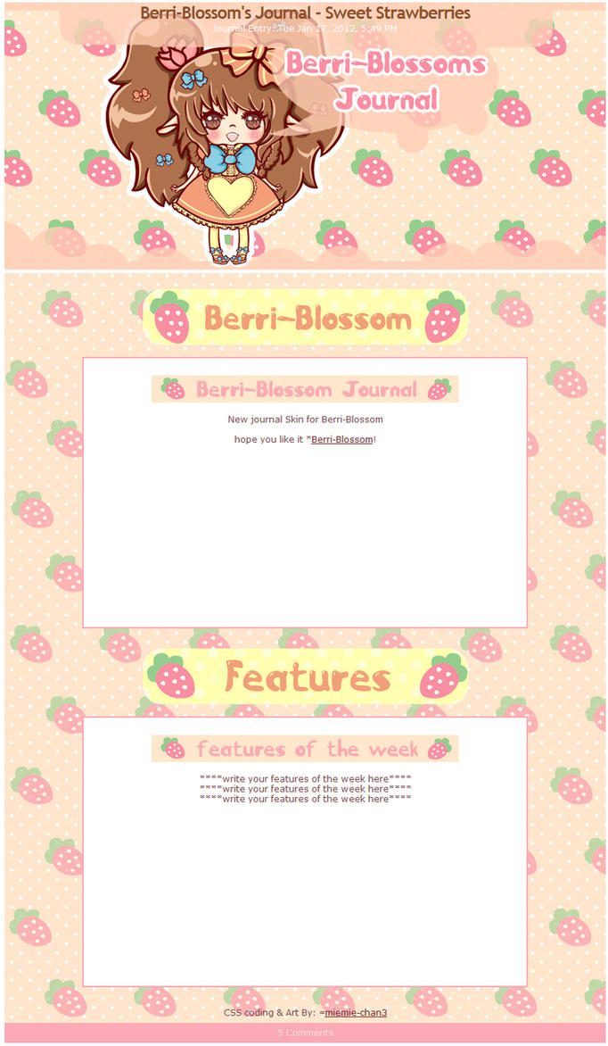 Berri-Blossom's Journal - Sweet Strawberries by miemie-chan3