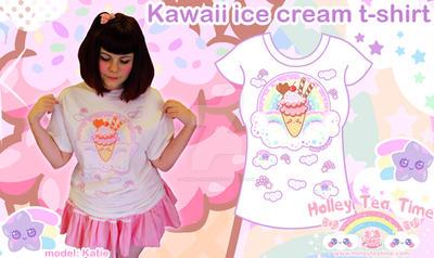 Kawaii ice cream t-shirt by miemie-chan3