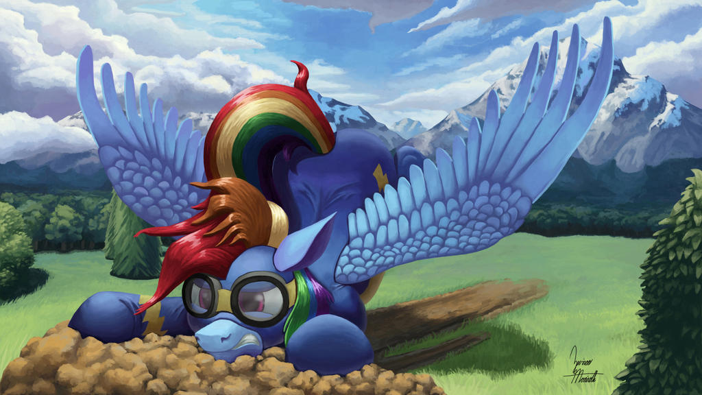 Rainbow Crash by ZevironMoniroth