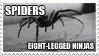 Stamp: Ninja Spiders by GenesisArclite