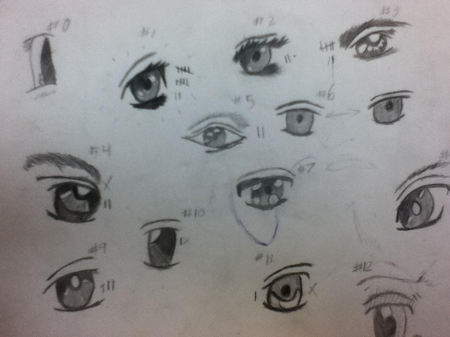 Eye Template For Anime Faces By Roxaskeyblademaster On