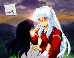 Inuyasha and Kagome - Wallpaper by ByDGX