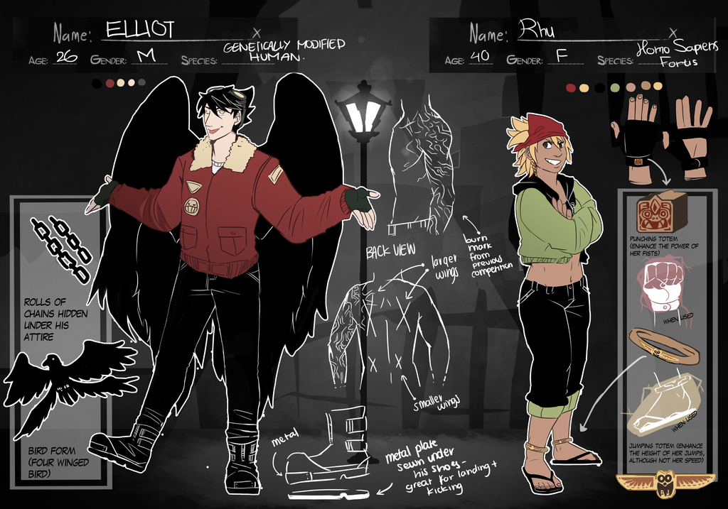 Elliot n Rhu- Reference Sheet by zebraa4