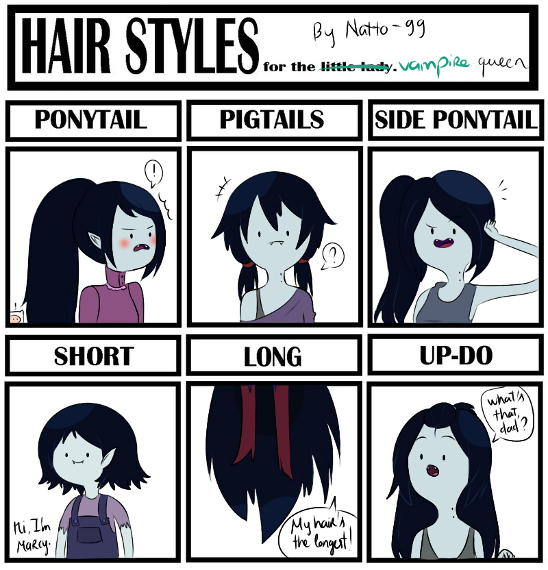 Hair style meme - Marceline the Vampire Queen by natto-ngooyen