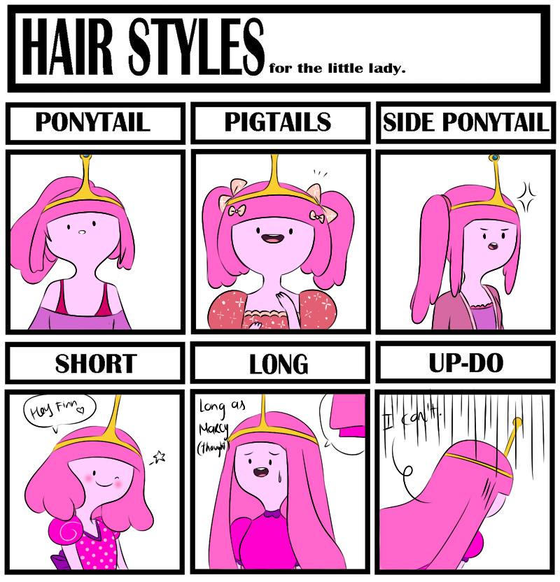 Hair style meme - Princess Bubblegum by natto-uzumaki