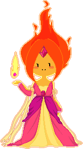 Flame Princess Pixel by natto-uzumaki