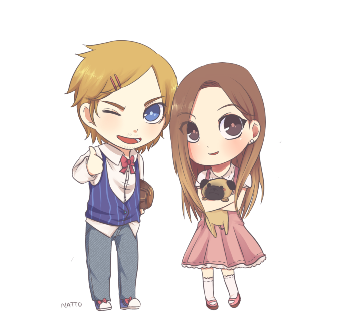Pewdie and Cutie by natto-uzumaki