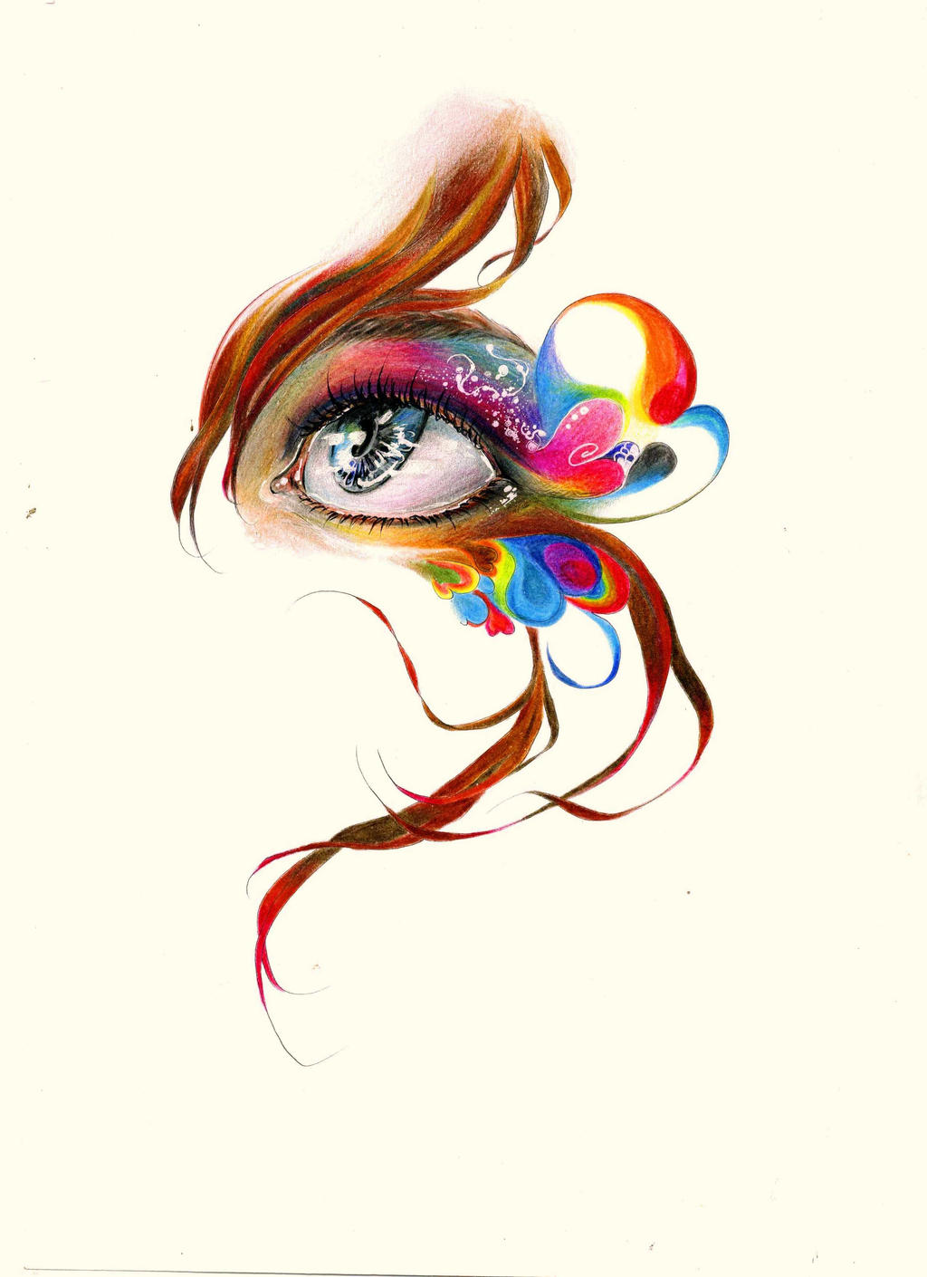 The rainbow eye by MACKMAC on DeviantArt