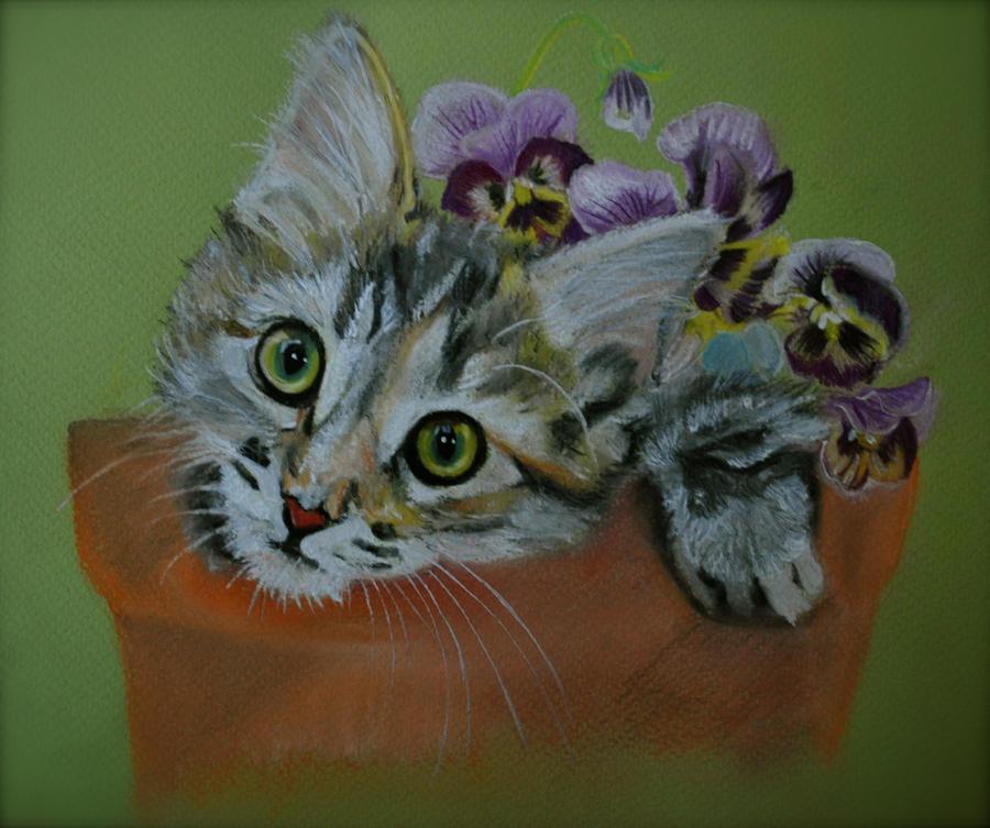Plant Pot Kitty by ShanghaiSarah