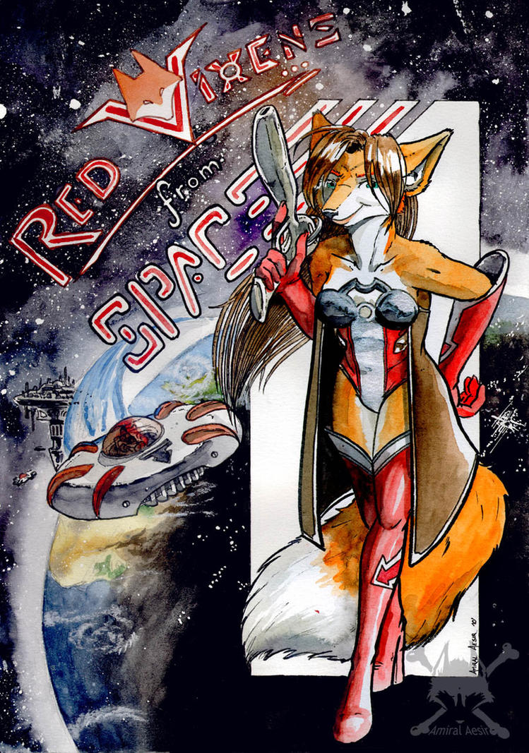 Red vixens from Space by AmiralAesir