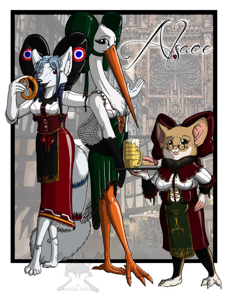 Trois demoiselles d'Alsace by AmiralAesir