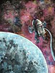 Moon Man Illustration