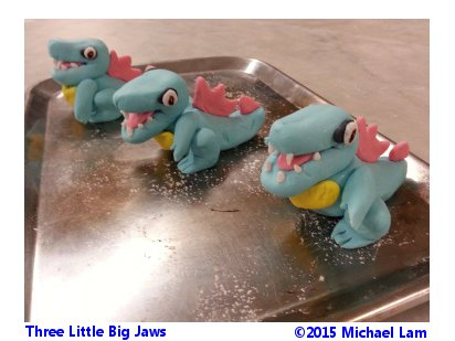Three Little Big Jaws by Blackvegetable
