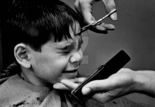 The pain of a haircut