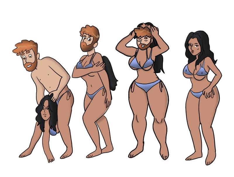 Kim Kardashian Bodysuiting  (Colored) by metrix32