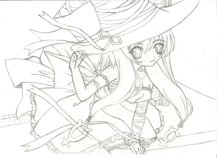 Cute Anime Witch Girl by ZippyatDA on DeviantArt