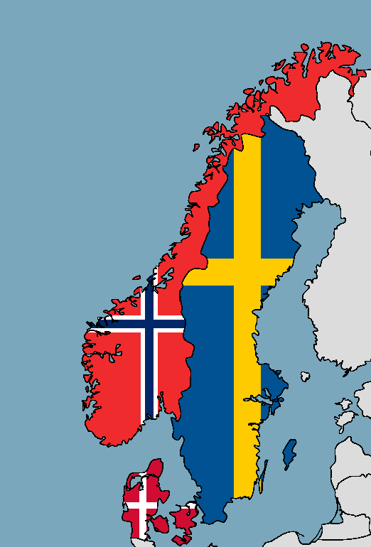 Scandinavian Flag Maps By Denmarkhetalia