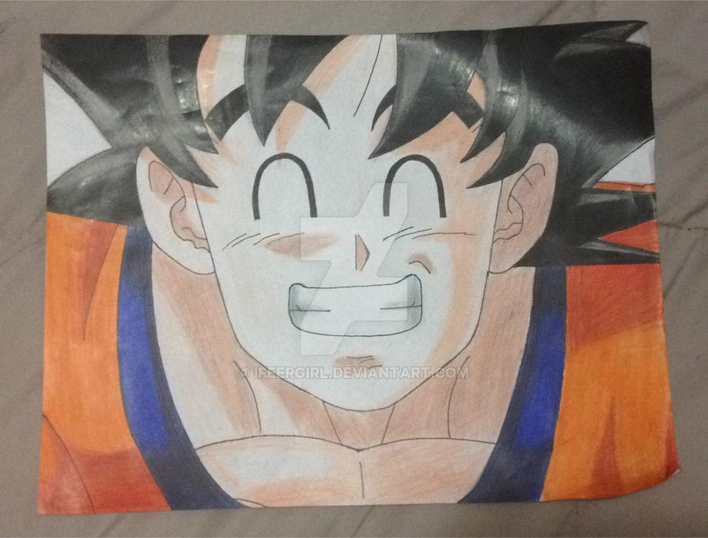 dibujando tradicionalmente 5 (Goku terminado!) by iFeerGirl