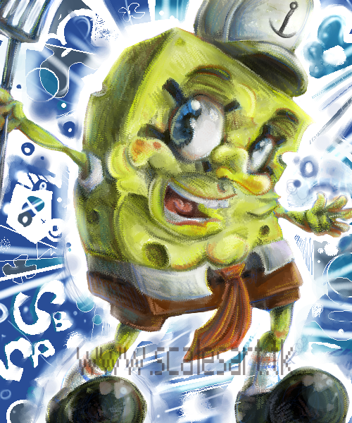 Spongebob by scales