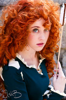 Kaitlyn as Merida from Disney's Brave