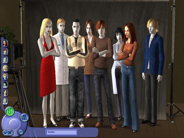 Cullen family sims2 by padfootlestrange