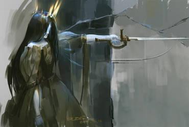 Burning crown by kyzylhum