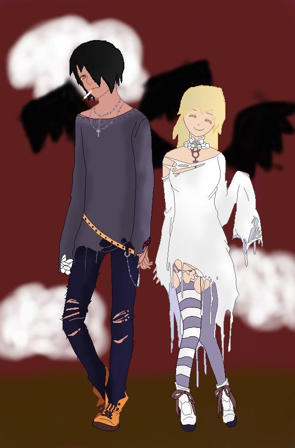 Ankara & Seth Raven_twins_by_princessstarlight132-d8dslwe
