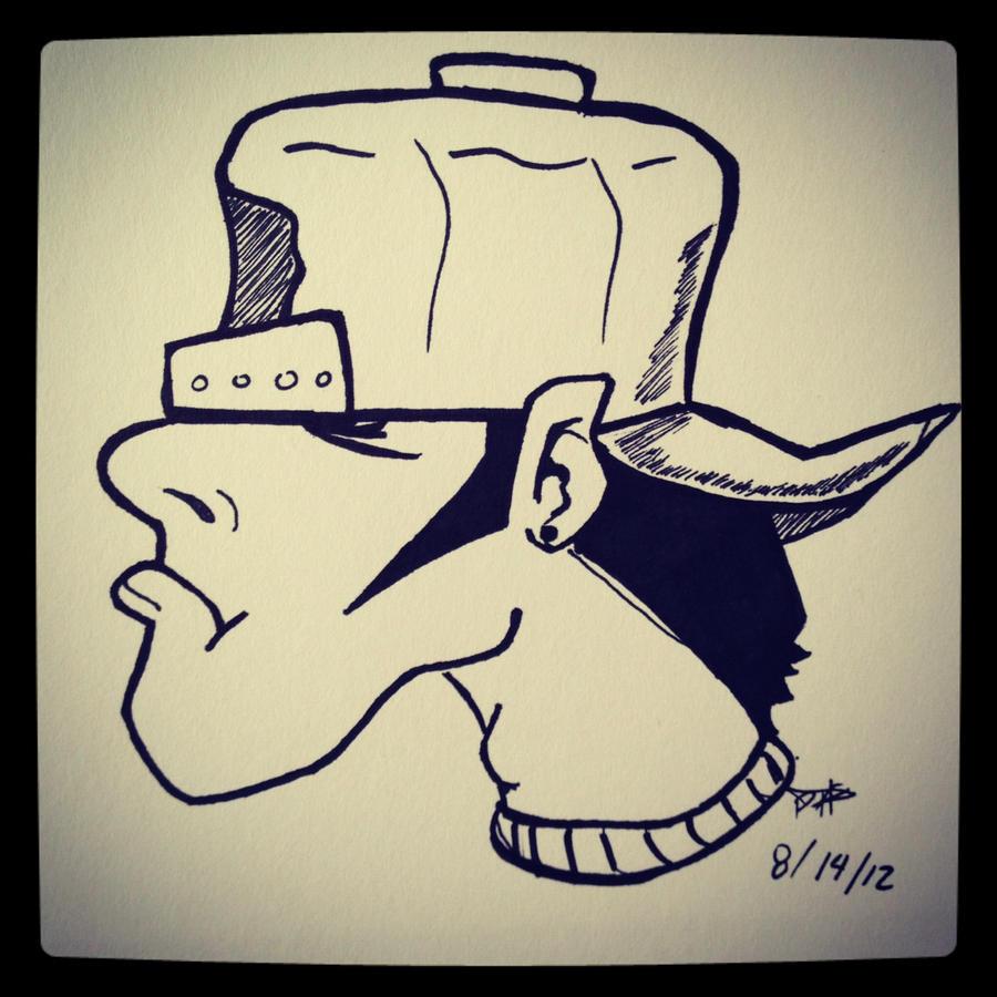 Wizard graffiti characters gas mask
