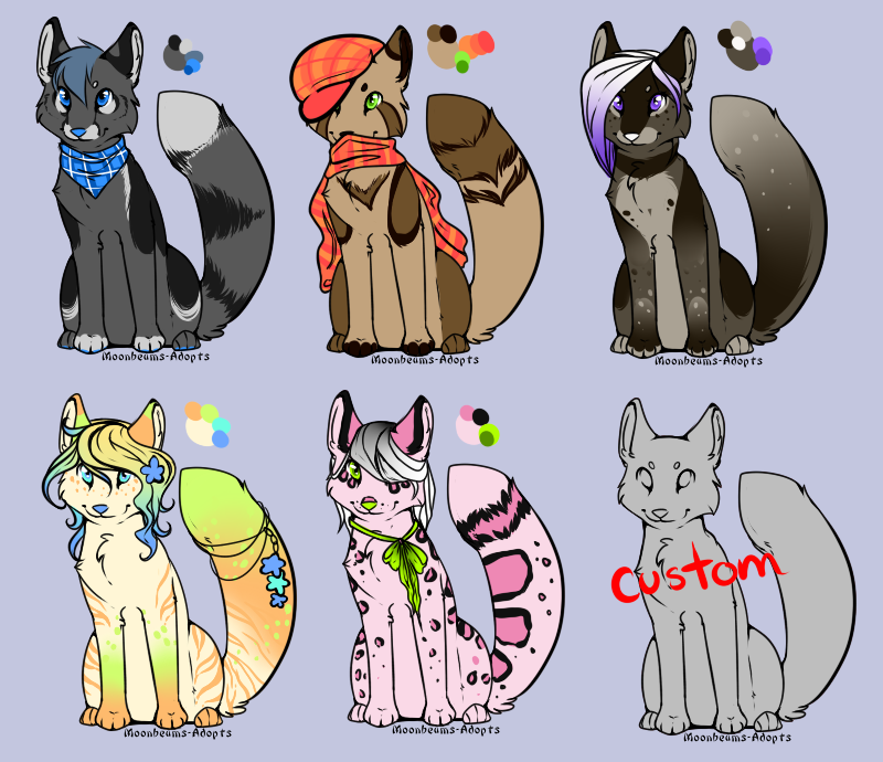 Fox adopts 1 (closed) by Moonbeams-Adopts
