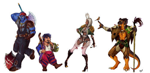 Dungeons and Dragons Character Designs (part 1) by Total-Wad