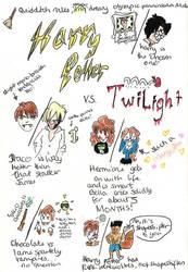 Harry Potter VS Twilight by madperson42