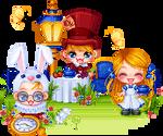 Alicein Wonderland (pixel art scene)