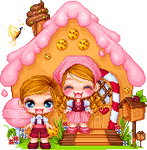 Hansel and Gretel (pixel art scene)