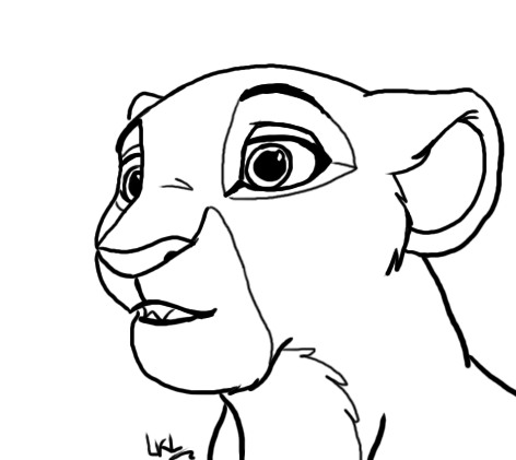 Lion king kiara coloring pages coloring pages for Lion king kiara coloring pages